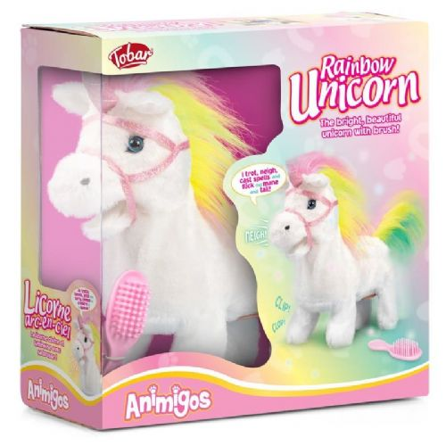 Plush Animigos Magical Walking Rainbow Unicorn Fairy Toy Kids Gift